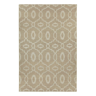 """Moor rug in Stone - """"I must've lived many past lives in the middle east as it's one of the most inspiring places on earth to me.  The curves and intersections of pattern are dizzying and romantic.  Every season needs a lattice pattern, this is ours for Spring."""" - Genevieve Gorder"""