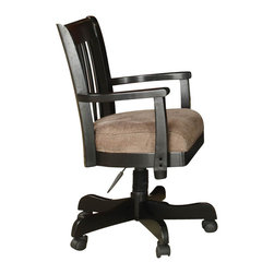 Riverside Furniture - Riverside Furniture Bridgeport Desk Chair in Antique Black - Riverside Furniture - Office Chairs - 7133 - A celebration of the classic office style loaded with function for today's home office. Use each piece alone or as a part of a coordinated home office collection