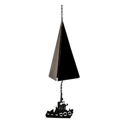 North Country Wind Bells - North Country Wind Bells Long Island Bell with Tugboat - 3 Tones Multicolor - 12 - Shop for Windchimes Bells and Gongs from Hayneedle.com! Long Island is a haven for sailors and fisherman and the clarion tones of the Long Island Buoy Bell is reminiscent of the safe harbor many have found there. Playing three beautiful tones this gorgeous bell is a lovely addition to your home or garden. Crafted from 60% recycled steel with a powder-coated black finish this bell won't twist or tangle ages gracefully through the years and is made in the USA. Additional Features Won't twist or tangle Designed to age gracefully Made in the USAAbout North Country Wind BellsAfter spending years working as a lobsterman and enjoying the unique sounds of the buoy bells Jim Davidson decided to start recording their sounds so he could recreate them as bells for others to enjoy. Made from high quality steel that s over 60% recycled each bell has a powder coated living finish which will develop a gorgeous patina over time. Jim and his wife May want people to be able to enjoy the beautiful and haunting tones of the buoy bells heard by sailors all over the world whether or not they live near the ocean.