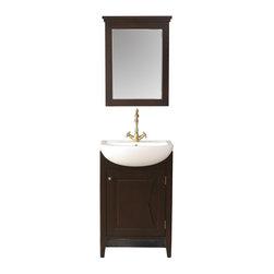 """Stufurhome - 23"""" Magnolia Single Sink Vanity with Mirror - Classic single sink vanity"""