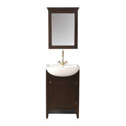 "Stufurhome - 23"" Magnolia Single Sink Vanity with Mirror - Classic single sink vanity"
