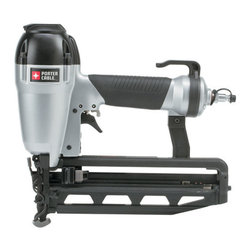"Porter-Cable - 16Ga Straight Finish Nailer 1-2 1/2 - Strong and lightweight die cast aluminum body. Special hardened driver blade. Integrated rubber grip for improved comfort; adjustable belt hook and removable non-marring nose tip. Internal piston catch for consistent max power on every shot. Tool-free dep  th of drive adjustment with detents for proper setting of nail heads. Specs: Firing Modes: Sequential Fire; Jam Clearance: Front Opening Quick Release Nose; Operating Pressure: 70-120 psi; Length: 11-1/2""; Height: 10-1/2""; Weight: 3-3/4lbs. Magazine Capac  ity: 100 Nails; Fastener Specifications: Type: 16 Ga. Finish Nails; Range: 1"" to 2-1/2""; Includes: Sample 16 Ga. Finish Nails; 1/4"" Fitting, Safety Glasses, Carrying Case.      This item cannot be shipped to APO/FPO addresses.  Please accept our apologies"
