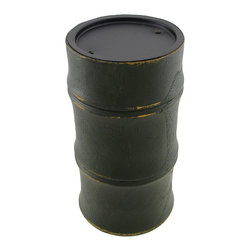Zeckos - Dark Green Wooden Bamboo Pillar Candle Holder - This wooden bamboo shaped pillar candle pedestal adds a lovely accent to tables, mantels, or shelves in your home. It measures 7 1/4 inches tall, 3 3/4 inches in diameter, and accommodates up to 3 inch diameter candles. This piece looks great as a single accent, or displayed in pairs, and it makes a nice housewarming gift for a friend.