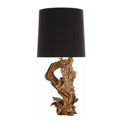 Arteriors Home - Arteriors Home Ashland Gold Leaf Dragon Tree Root Lamp - Arteriors Home 12402-79 - Arteriors Home 12402-790 - Add organic beauty as well as light to any room with this striking table lamp. Part sculpture, part conversation piece, and totally intriguing, it is formed from a natural piece of wood. Size and shape will vary.