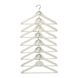 IKEA of Sweden - Bumerang Curved Clothes Hangers, White, Set of 8 - My family never has enough hangers. These white ones are on my Ikea shopping list.