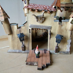 crooked creations - Crooked castle with working drawbridge and lighting