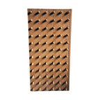 Dibble Board - Beautiful rectangle dibble board with original tawny colored matte paint. Warm industrial wall art, makes for a perfect conversation piece.