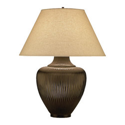 Robert Abbey - Robert Abbey Laurelton Louis Large Pot Table Lamp 9890 - Buddha Bronze Finish with Pale
