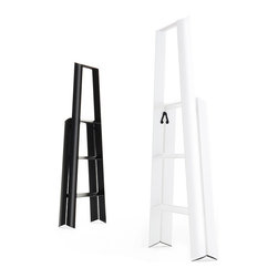 Metaphys - Metaphys - Lucano Step Stool - The Lucano 3-Step ladder is a slim-lined, minimalist solution to the age old problem of a step stool that functions well and looks great. The collaboration between design lab Metaphys and the oldest manufacturer of ladders in Japan, Hasegawa Kogyo Co., has resulted in a sleek and sturdy step stool capable of holding up to 220lbs. The rounded edges and satin feel make it too beautiful to stow away and with its ability to stand on its own, why would you? Recently awarded the Red Dot Design, Good Design and JIDA Design Museum Selection awards.