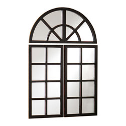 Arched Window Mirror - Hang this dramatic arched mirror in your home for a gorgeous effect. Reminiscent of a sweeping window, it will open up the space to new possibilities.