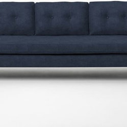 Jackson Sofa, Ink Blue Performance Velvet