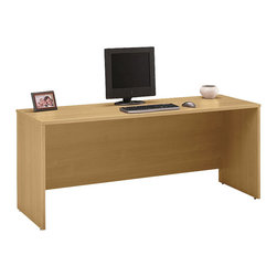 "BBF - BBF Series C 72W Credenza - Desk Shell - BBF - Computer Desks - WC60326 - Turn your office into an elegant space. The BBF Series C 72""W Credenza Shell is a versatile addition or starting block for your workspace. The Credenza Shell easily transforms with the addition of Series C pieces including the compatible 72""W Hutch to create additional storage space above or 2-Drawer and 3-Drawer Mobile Pedestals to integrate movable storage. Blends artfully with other collection pieces. Allows greater storage at an affordable price. Solid construction meets ANSI/BIFMA test standards in place at time of manufacture; this product is American Made and is backed by BBF 10-Year Warranty."