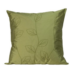 Jiti - Jiti Leaves Sage Square Pillow Multicolor - 2020/LVS-SAGE - Shop for Pillows from Hayneedle.com! A beautiful accent for any nature lover's room the Jiti Leaves Sage Square Pillow features a leaf pattern on its sage green cover. The cover material is 100% silk for a rich luxurious feel and the down-filled insert makes this pillow soft and comfortable.About Jiti Pillows:Jiti has a wide range of bedding and accent pillow products so you're sure to find the perfect complement for your home decor in their line. The company is based in Los Angeles California and all of their products are proudly made in America. Using luminous colors rich patterns and varied textures Jiti creates products that can help you give your room an exotic makeover in minutes. Goga Bouquet Jiti's designer gets her inspiration from her Argentine heritage and her fascination with Indian culture. The result is beautiful exotic pieces that still have a modern feel.