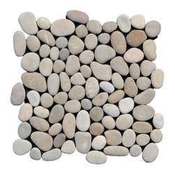 Indo Tile - Tan Pebble Tile, Sample - SAMPLE of Tan Pebble Tile ( 1 Full Sheet or Square Foot )