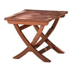 Great Deal Furniture - Tahitian Red Hardwood Outdoor Coffee Table - The Tahitian Red Hardwood Outdoor Coffee Table make the perfect addition to any patio. With a rich finish, this acacia wood table is great for any environment and folds up for easy storage and transporting.