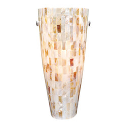 Vaxcel - Vaxcel WS53252SN Milano Wall Sconce Mosaic Shell Glass - Vaxcel WS53252SN Milano Wall Sconce Mosaic Shell Glass