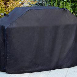 Sure Fit - Sure Fit 60-inch Premium Grill Cover - Protect your favorite way to cook with this 60-inch premium grill cover. Its 100 percent polyester construction features a weather-resistant coating and Velcro closure to keep the grill dry. The black hue will blend into any landscaping scheme.
