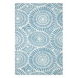 Loloi Rugs - Loloi Rugs Piper Collection - Blue Sky, 5' x 7' - Transform the floor into a vibrant play area for your child with the cheerful Piper Collection. Distinguished by its incredibly soft microfiber polyester surface and playful geometric and linear designs, the machine woven Piper Collection instantly l