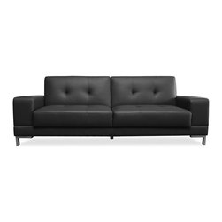 Lifestyle Solutions - Lifestyle Solutions Metropolitan Convertible Sofa in Black - Serta Dream Convertibles - a collection of stylish convertibles that turn from Sofa by Day to a Dream Sleeper at Night. From individual encased coils to quilted memory foam to ensure comfort.