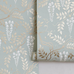 Egerton Wallpaper - A 20th century adaptation by Cole & Son, this traditional wall covering features twirled and tangled wisteria that dances ever-so-languidly across any room.