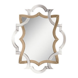 """Kichler - Kichler 78139 Modern 41.75"""" Oval Wall Mirror w/Wood Frame - Lydia Collection - Kichler 78139 41.75"""" Oval Wall Mirror with Wood Frame from the Lydia CollectionStunningly beautiful, you'll find no better accent than the Lydia wall mirror.Features:"""