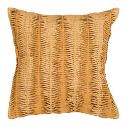 "Surya - Surya Pillow X-D8181-5620P - The solid, textural design of this pillow makes it the perfect finishing touch for any room. The color gold accents this decorative pillow. This pillow contains a down fill and a zipper closure. Add this 18"" x 18"" pillow to your collection today."