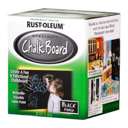 Rust-Oleum Specialty 30-oz. Flat Black Chalkboard Paint - Paint a wall with chalkboard paint and draw up your own artwork! This makes a fun station for kids to get creative without much cleanup required. You could also frame a chalkboard section in the center of a wall for a more creative approach.