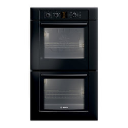 """Bosch 30"""" 500 Series Double Wall Oven With Convection, Black 