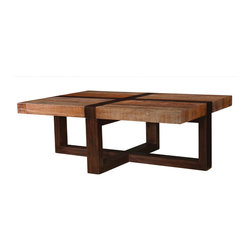 Four Hands - Bryan Coffee Table - A combination of acacia and peroba give this coffee table a distinctive touch that makes it a natural for your modern home. It's hand-crafted from sustainably harvested and reclaimed woods and has a timeless design that is bound to blend beautifully in any setting.