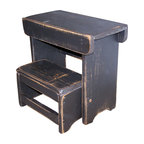 Primitive Folding Step Stool - Primitive Style Folding Step Stool in Hand Rubbed Black (more colors available)