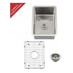 Schon - Schon 16 Gauge Zero Radius 15 x 20  x 10 Sink - SCRASB152016 Schon Undermount 16 Gauge Schon Stainless Steel Radius Single Bowl Bar Sink 15 x 20 or 20 x 15, Grid, Strainer