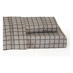 TwinXL.com - Twin XL Bronx Sheet Set - These brand new sheets offer a light grey on grey toned alternative to the normal solid sheet. They are simple but create a classy design on your bed. Match well with plenty of comforters. Made of 100% high quality microfiber.