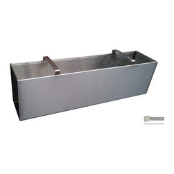 Stainless steel planter with handles - Stainles steel #4 finish planter with handles