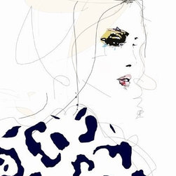 Draw the Line Art Print by Leigh Viner - I adore Leigh Viner's art. She dreams up gorgeous ladies in pencil, pen and watercolor illustrations. This print is one of my favorites: She is the perfect chic Parisian.