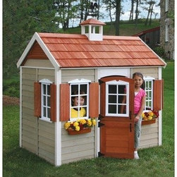 The Savannah Wood Playhouse - I am extra frugal, so I found a playhouse on Craigslist for $50, but this one is about the same size and much cuter. The best part of adding the playhouse to my city garden plot is that my 2 year old stays occupied, and I can actually get some work done.