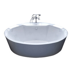 Venzi - Venzi Sole 34 x 68 Oval Freestanding Soaker Bathtub - The Sole series features contemporary oval design. The increased interior depth allows bathers to enjoy the true deep soak, turning each bathing session into an unforgettable experience.