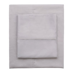 Dove Grey 400 Thread Count Sheets - Woven from premium extra-long staple cotton, in a 400-thread count, single ply, sateen weave, our classic hemmed sheets will feel beautifully smooth and silky against your skin. Its simple yet classic hem gives it crisp and clean lines for a timeless look for your bedroom.