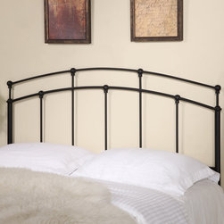 Coaster - Transitional Queen / Full Size Headboard in Black - This black metal headboard is a sleek and simple addition to any full or queen size bed frame in your home. Featuring a rich black finish and clean but strong lines for sturdiness. Available in a full/queen version.