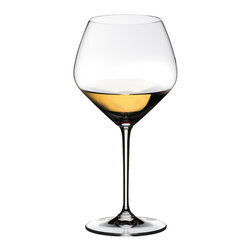 Riedel - Riedel Vinum Extreme Oaked Chardonay set of 2 Wine Glassses - Here's to you — your excellent taste in wine and in stemware. These simply extraordinary lead crystal glasses designed expressly for chardonnay are a lovely case in point.