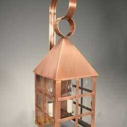 Northeast Lantern - York Antique Copper Two-Light Outdoor Wall Light with Clear Glass - -Clear Glass  -Northeast Lantern offers a distinctive collection of early American and Colonial reproduction lighting that is hand crafted in New Hampshire for a lifetime of beauty.  -The fixtures are made of solid brass and copper. They  are cut, fitted, soldered, finished, and wired by hand in New Hampshire. Northeast Lantern - 7131-AC-LT2-CLR