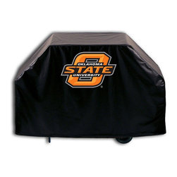 "Holland Bar Stool - Holland Bar Stool GC-OKStUn Oklahoma State Grill Cover - GC-OKStUn Oklahoma State Grill Cover belongs to College Collection by Holland Bar Stool This Oklahoma State grill cover by HBS is hand-made in the USA; using the finest commercial grade vinyl and utilizing a step-by-step screen print process to give you the most detailed logo possible. UV resistant inks are used to ensure exeptional durablilty to direct sun exposure. This product is Officially Licensed, so you can show your pride while protecting your grill from the elements of nature. Keep your grill protected and support your team with the help of Covers by HBS!"" Grill Cover (1)"