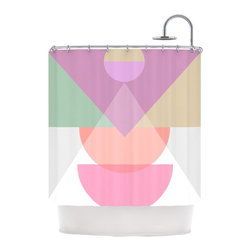 """Kess InHouse - Mareike Boehmer """"Pastel Play 3X"""" Purple Pink Shower Curtain - Finally waterproof artwork for the bathroom, otherwise known as our limited edition Kess InHouse shower curtain. This shower curtain is so artistic and inventive, you'd better get used to dropping the soap. We're so lucky to have so many wonderful artists that you'll probably want to order more than one and switch them every season. You're sure to impress your guests with your bathroom gallery in addition to your loveable shower singing."""