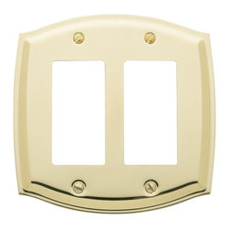 Baldwin Hardware - Colonial 2 GFCI Wall Plate in Polished Brass (4787.030.CD) - Feel the difference as Baldwin hardware is solid throughout, with a 60 year legacy of superior style and quality. Baldwin is the choice for an elegant and secure presence. Baldwin guarantees the beauty of our finishes and the performance of our craftsmanship for as long as you own your home.