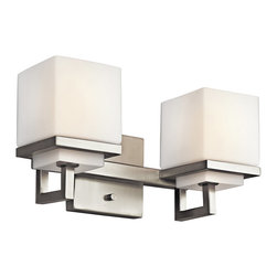 Kichler Lighting - Kichler Lighting 45138NI Metro Park Brushed Nickel 2 Light Vanity - 2, 60W Candelabra