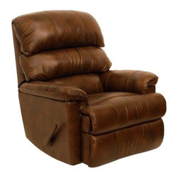 Catnapper - Catnapper Bentley Leather Touch Chaise Rocker Recliner Chair in Tobacco - Catnapper - Recliners - 44042124619304619 - The Bentley Chaise Rocker Recliner by Catnapper presents a warm inviting contemporary design to create a collection that is sure to fit comfortably within any living area. With its Pad Over Chaise Seating Comfort and Stylish Triple Back design, this recliner offers both great design and comfort. Available in tobacco and mushroom leather upholstery, this collection features sophisticated style that blends flawlessly into any home decor.
