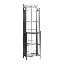 Holly & Martin - Holly & Martin Petaluma Baker's Rack - Elegant and beautiful, this baker's rack will help with storage, display and organization all in one. The quality metal construction ensures this baker's rack will serve your needs for a lifetime. Decorative scrollwork on the top edge adds a touch of style to complete the traditional design.