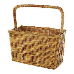 Eco Displayware - Large Magazine Rattan Basket in Natural - Great for closet, bath, pantry or office. Earth friendly. 19 in. L x 10.5 in. W x 19 in. H (13.78 lbs.)These natural colored baskets add warmth and charm and keep you organized.