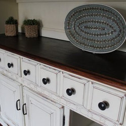 China Cabinets - Painted Country China Hutch