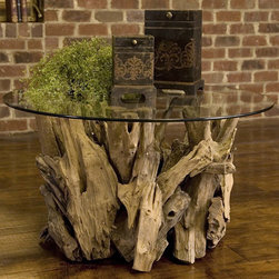 Uttermost - Driftwood Coffee Table - Made of natural, unfinished teak driftwood, this coffee table is the ultimate centerpiece to any sitting room in your home. Features: -Natural, unfinished teak driftwood.-Driftwood collection.-Distressed: No.Dimensions: -Overall dimensions: 20'' H x 36'' W x 36'' D.-Overall Product Weight: 125 lbs.
