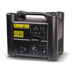 Champion - Champion Power Equipment 1700/2000 Watt Power Inverter Generator - This durable Champion power inverter generator is lightweight and portable,making it ideal for tailgating,camping and light home use.